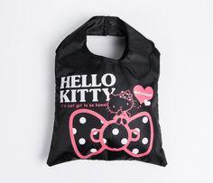 Hello Kitty Eco Tote Bag: Black