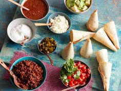 Taco Cones - clever idea but there has to be a better way to form the tortilla cones.