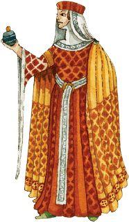 En esta imagen podemos observar a una dama noble con vestimentas de la época.