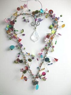 Suncatcher Funkel Feng Shui Großes Herz Kristall TAJ Wood Scherer Weihnachtsdeko | eBay