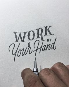 """Work by your hand"" by Khairul Fikri"
