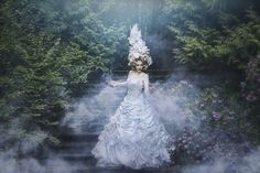 """""""The Stairs of the Long Night of Grief"""" —  Photographer/Designer: Liancary Flower-piece: Miss Magnolias Flower Project Makeup/Model: Tessajeancook Hair: Jan Rieger Assistant: TUG Photography"""