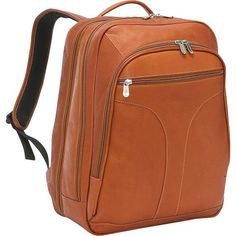4170f5ce3d9 Piel Leather Checkpoint Friendly Urban Backpack - Saddle