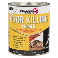 Dries in 45 minutes;Applies white, dries clear Features: Zinsser 307648 QT Odor Killing Primer Pack of 1 Urine Odor, Pet Urine, Pet Odors, Smoke Damage, Smoke Smell, Urine Smells, Container Size, Wall Treatments, Fire