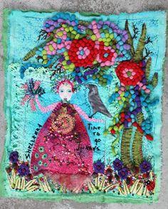 Fiberart quilt, Sheltered, Marie-Louise Fijneman