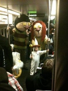 Wild Things ride the subway.