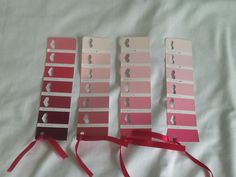 Heart punched bookmarks