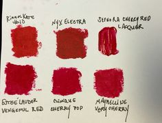 Lip colors I swatched to BW
