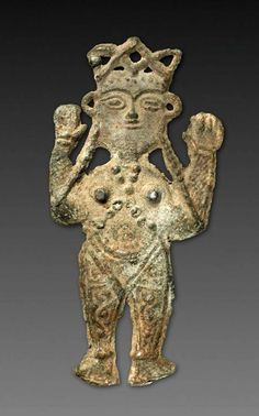 Orans Figure, Orans Figure, Iran, Medieval Period lead relief, Overall: h. Ancient Egyptian Art, Ancient Aliens, Ancient History, Ancient Greece, Ancient Goddesses, Ancient Near East, Cleveland Museum Of Art, Mother Goddess, European History