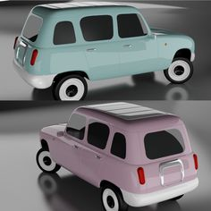 'the nice icon of industrial change' designed by miGUEL HERRANZ 2011 - finalist in designboom's RENAULT 4EVER competition #cardesign #car