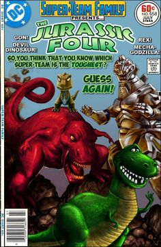 Super-Team Family: The Lost Issues!: The Jurassic Four Comic Book Characters, Comic Book Heroes, Comic Books Art, Book Art, Comic Pictures, Comic Pics, Marvel, Book And Magazine, Classic Comics