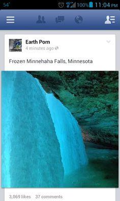 #frozenminniehahafalls, #minnesota #frozen #frozenwaterfall #waterfall #repost earthporn on #fb