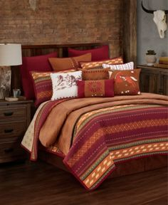 Add a touch of rustic charm to your bedroom with the HiEnd Accents Solace Reversible Quilt Set. The eye-catching bedding boasts a wild-berry colored geometrical, southwest print and puzzle stitched design. King Quilt Sets, Queen Quilt, Wood River, Twin Quilt, Space Furniture, Painted Furniture, Bedroom Furniture, Cowgirls, Bedding Collections