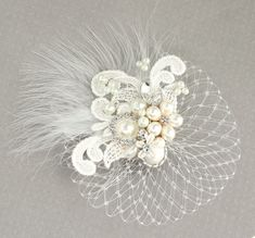 Items similar to Bridal Hair Accessory- Bridal Hair Comb- Jeweled Bridal Comb- Wedding Hairpiece- Hair Accessories- Bridal Hairpiece- Birdcage Hair Comb on Etsy Bridal Hat, Bridal Comb, Headpiece Wedding, Pearl Bridal, Bride Hair Accessories, Hair Decorations, Wedding Hair Pieces, Bandeau, Hair Jewelry
