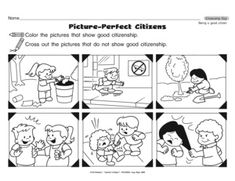 Free home school printable coloring book about what a good
