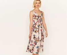 Oasis, IRIS JACQUARD MIDI DRESS Multi 1