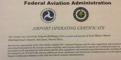 """@noticel: """"La Administración Federal de Aviación (FAA) certificó esta tarde a la compañía Aerostar Airport Holdings como operador del Aeropuerto Internacional Luis Muñoz Marín (LMM)."""""""