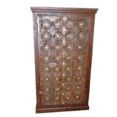 Antique Door Brass Rustic Armoire Furniture From India Jaipur Cabinet FREE SHIP: Home & Kitchen $1,588.00