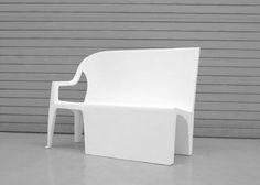 Whoah, chair glitched out. Benchchair by Thomas Schnur Photo via designmilk
