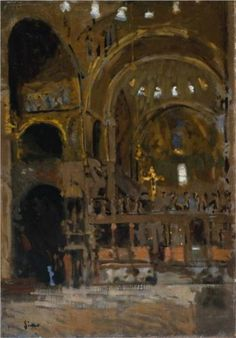 Interior of St Mark's, Venice - Walter Sickert