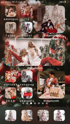 Christmas Themes, Merry Christmas, Holiday Decor, Iphone Home Screen Layout, Christmas Aesthetic, Christmas Wallpaper, Phone Backgrounds, Homescreen, Aesthetic Wallpapers
