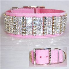 2 inch wide beautifully designed velvet dog collar decorated with clear and large silver crystal in a unique design.