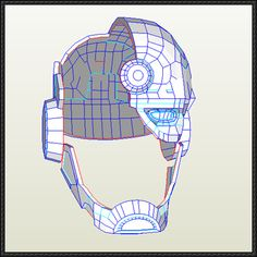 This papercraft is a life size Cyborg's Helmet, created by Luisifer Chavez-Calderon. Cyborg is a fictional character, a superhero appearing in comic books