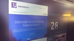 N°1 American University ∣ Template by Serge Mistyukevych, via Behance