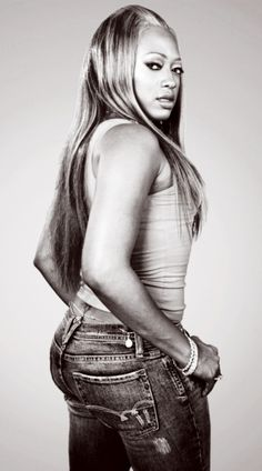 """Trina (born Katrina Laverne Taylor ), American rapper, record producer, songwriter and model. She first gained notoriety with her appearance on Trick Daddy's 2nd album in the single """"Nann N****"""". Since then she has released 5 moderately successful studio albums. Her singles include Da Baddest B****, Pull Over, Told Ya'll, No Panties, B R Right, Don't Trip, Here We Go, Single Again, and I Got A Thang For You. XXL Magazine calls her """"the most consistent female rapper of all time."""" She is of…"""