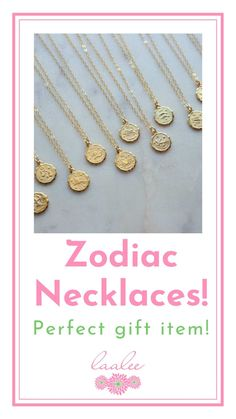 Gorgeous zodiac necklace on a 14k gold filled chain. High quality and the perfect price! Makes for a great gift item!