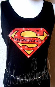 bon jovi superman rhinestone shirt - Google Search