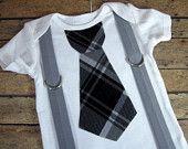tie an suspenders onsie