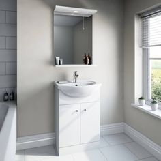 Prague 55 Unit and Mirror with Tap - Victoria Plumb