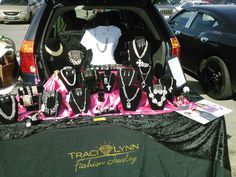 When we say Show-On-The-Go, we MEAN it!!! Traci Lynn Fashion Jewelry is on the move, literally!!! #besttrunkshowever TLFJ Partner Trunk Show