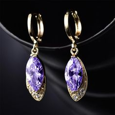 MOLIAM Fashion Party Charming Earrings for Women Gold-Color Crystal Earring Pandent AAA Zircon Dangle Drop Earrings MLE016