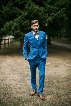 Costume bleu indigo avec chemise liberty tenue de - Hipster anzug ...