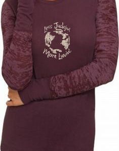 Less Judgin' More Luvin' Women's Long Sleeve