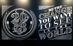Making Of Typography Chalk Mural
