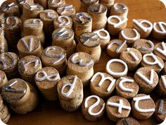 Make your own stamps out of wine corks! Brilliant!