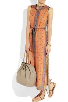 Clover Canyon | Printed crepe de chine maxi dress | NET-A-PORTER.COM