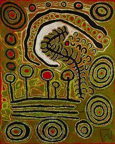 "miss-mary-quite-contrary: "" Iyawi Wikilyiri Pukara Tjukurpa 2011 59 x 47 inches "" Indigenous Australian Art, Indigenous Art, Kunst Der Aborigines, Aboriginal Painting, Encaustic Painting, Art Brut, Naive Art, Sacred Art, Tribal Art"