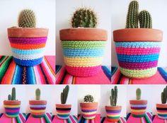 Ganchillo o crochet: plantas, macetas... - Foro de InfoJardín ༺✿ƬⱤღ http://www.pinterest.com/teretegui/✿༻