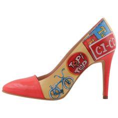 Hotstepper Retro Electro Stepper, Painted Shoes, Hot, Stiletto Heels, Footwear, Pumps, Retro, Fashion, Moda