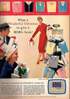 1959....yeah just what I want for Christmas after all that holiday eating, a scale.