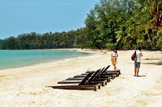 Long expanse of virtually deserted beach is the norm on Koh Mak island, Thailand