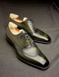 Handcrafted Leather Wingtip Brogue Shoes for Men Slip On Shoes, Men's Shoes, Dress Shoes, Brogues, Loafers Men, Mens Business Casual Shoes, Leather Skin, Swag Style, Penny Loafers