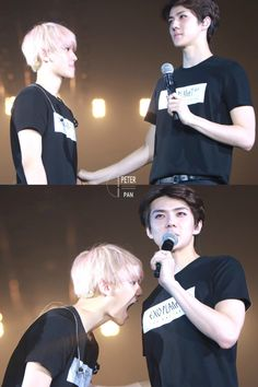 Baekhyun and Sehun Baekhyun, Exo Kai, Exo Facts, Exo Official, Exo Couple, Exo Concert, Park Bo Young, Exo Luxion, Kim Min Seok