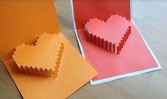 DIY Craft 3D Heart Pop up Card | Gör Det Själv: 3D hjärta kort  #DIYCraftsYoutube #DIY #Pyssel #DIYCraft TUTORIAL:  https://www.youtube.com/watch?v=TlW5FwJyhYc&feature=youtu.be