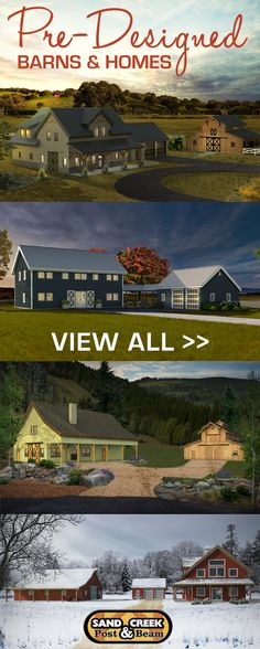 Dream Acreages - Pre-Designed Barns & Homes with Floor Plans. Dream House Plans, House Floor Plans, Dream Houses, Metal Building Homes, Building A House, Building Plans, Barn House Kits, Barn Houses, Prefab Homes