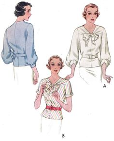Modern Sewing Patterns, Vintage Dress Patterns, Blouse Patterns, Clothes Patterns, Blouse Vintage, Skirt Patterns, Coat Patterns, Vintage Outfits, Vintage Fashion